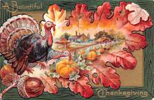 hol064581 - Thanksgiving Postcard Old Vintage Antique Post Card