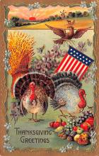 hol064585 - Thanksgiving Postcard Old Vintage Antique Post Card