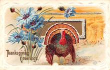 hol064591 - Thanksgiving Postcard Old Vintage Antique Post Card