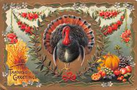 hol064599 - Thanksgiving Postcard Old Vintage Antique Post Card