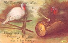 hol064601 - Thanksgiving Postcard Old Vintage Antique Post Card