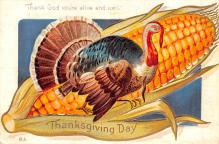 hol064603 - Thanksgiving Postcard Old Vintage Antique Post Card