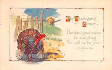 hol064609 - Thanksgiving Postcard Old Vintage Antique Post Card
