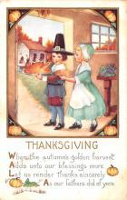 hol064611 - Thanksgiving Postcard Old Vintage Antique Post Card