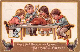 hol064617 - Thanksgiving Postcard Old Vintage Antique Post Card