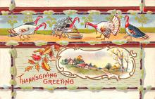 hol064619 - Thanksgiving Postcard Old Vintage Antique Post Card