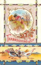hol064621 - Thanksgiving Postcard Old Vintage Antique Post Card
