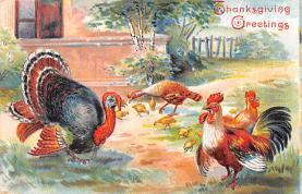 hol064623 - Thanksgiving Postcard Old Vintage Antique Post Card