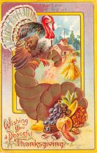 hol064627 - Thanksgiving Postcard Old Vintage Antique Post Card
