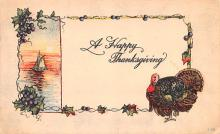 hol064629 - Thanksgiving Postcard Old Vintage Antique Post Card