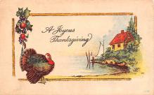 hol064631 - Thanksgiving Postcard Old Vintage Antique Post Card