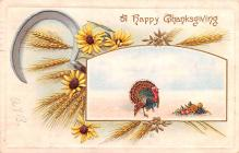 hol064633 - Thanksgiving Postcard Old Vintage Antique Post Card