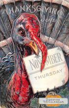 hol064637 - Thanksgiving Postcard Old Vintage Antique Post Card
