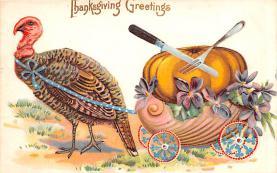 hol064643 - Thanksgiving Postcard Old Vintage Antique Post Card