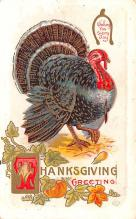 hol064645 - Thanksgiving Postcard Old Vintage Antique Post Card