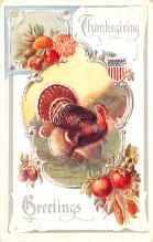 hol064647 - Thanksgiving Postcard Old Vintage Antique Post Card