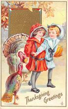 hol064653 - Thanksgiving Postcard Old Vintage Antique Post Card