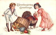 hol064661 - Thanksgiving Postcard Old Vintage Antique Post Card
