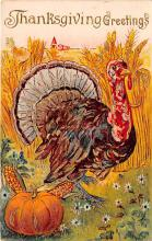 hol064665 - Thanksgiving Postcard Old Vintage Antique Post Card