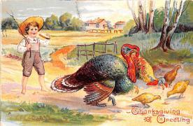 hol064679 - Thanksgiving Postcard Old Vintage Antique Post Card