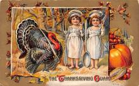 hol064681 - Thanksgiving Postcard Old Vintage Antique Post Card