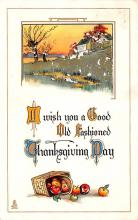 hol064685 - Thanksgiving Postcard Old Vintage Antique Post Card