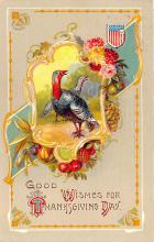 hol064687 - Thanksgiving Postcard Old Vintage Antique Post Card