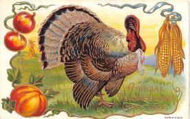 hol064691 - Thanksgiving Postcard Old Vintage Antique Post Card