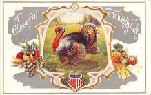 hol064693 - Thanksgiving Postcard Old Vintage Antique Post Card