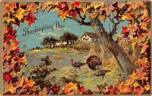 hol064697 - Thanksgiving Postcard Old Vintage Antique Post Card