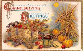 hol064705 - Thanksgiving Postcard Old Vintage Antique Post Card