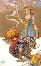 hol064707 - Thanksgiving Postcard Old Vintage Antique Post Card