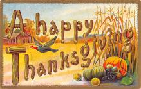 hol064709 - Thanksgiving Postcard Old Vintage Antique Post Card