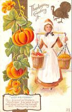 hol064721 - Thanksgiving Postcard Old Vintage Antique Post Card