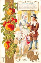 hol064723 - Thanksgiving Postcard Old Vintage Antique Post Card