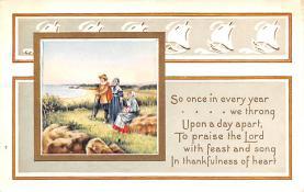 hol064725 - Thanksgiving Postcard Old Vintage Antique Post Card