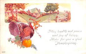 hol064731 - Thanksgiving Postcard Old Vintage Antique Post Card