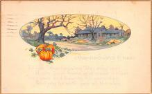 hol064733 - Thanksgiving Postcard Old Vintage Antique Post Card