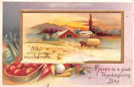 hol064735 - Thanksgiving Postcard Old Vintage Antique Post Card