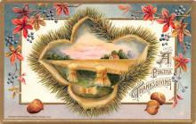 hol064737 - Thanksgiving Postcard Old Vintage Antique Post Card