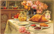 hol064745 - Thanksgiving Postcard Old Vintage Antique Post Card