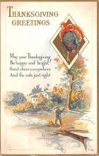 hol064749 - Thanksgiving Postcard Old Vintage Antique Post Card