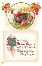hol064755 - Thanksgiving Postcard Old Vintage Antique Post Card