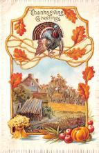 hol064757 - Thanksgiving Postcard Old Vintage Antique Post Card