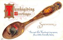 hol064759 - Thanksgiving Postcard Old Vintage Antique Post Card