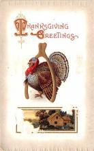 hol064765 - Thanksgiving Postcard Old Vintage Antique Post Card