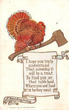 hol064767 - Thanksgiving Postcard Old Vintage Antique Post Card