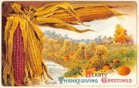 hol064777 - Thanksgiving Postcard Old Vintage Antique Post Card
