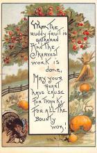 hol064779 - Thanksgiving Postcard Old Vintage Antique Post Card