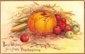 hol064789 - Thanksgiving Postcard Old Vintage Antique Post Card